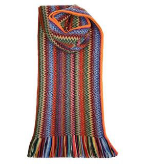 Rachel Zig Zag Wool/Angora Knitted Scarf