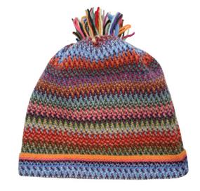 Rachel Zig Zag Wool/Angora Knitted Hat