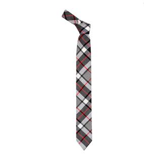 Thompson Grey Skinny Tartan Tie