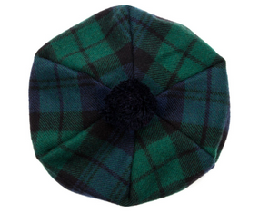 Black Watch Modern Tartan Brushed Wool Tam