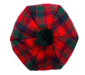 Robertson Red Modern Tartan Brushed Wool Tam