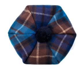 Buchanan Blue Tartan Brushed Wool Tam