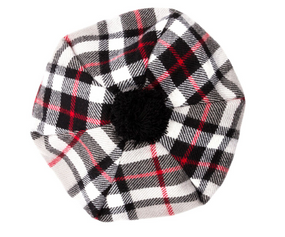 Thompson Grey Tartan Brushed Wool Tam