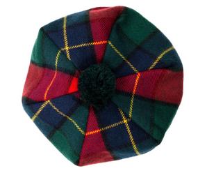 Kilgour Modern Tartan Brushed Wool Tam