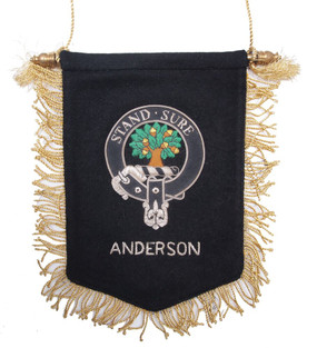 Embroidered Anderson Clan Banner
