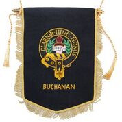 Embroidered Buchanan Clan Banner