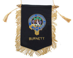 Embroidered Burnett Clan Banner