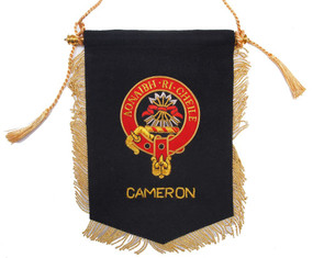 Embroidered Cameron Clan Banner