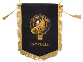 Embroidered Campbell Clan Banner