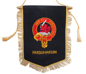 Embroidered Farquharson Clan Banner