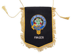 Embroidered Fraser Clan Banner