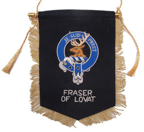 Embroidered Fraser of Lovat Clan Banner