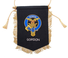 Embroidered Gordon Clan Banner