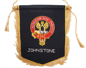 Embroidered Johnstone Clan Banner