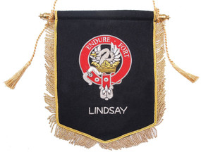 Embroidered Lindsay Clan Banner