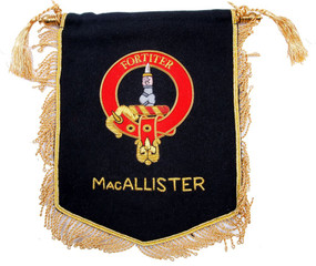 Embroidered MacAllister Clan Banner