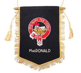 Embroidered MacDonald Clan Banner
