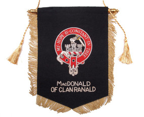 Embroidered MacDonald of Clanranald Clan Banner