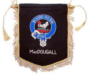 Embroidered MacDougall Clan Banner