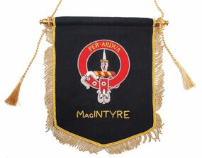 Embroidered MacIntyre Clan Banner