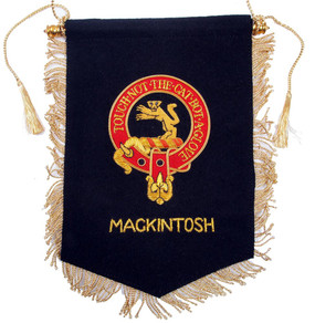 Embroidered MacKintosh Clan Banner
