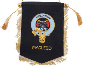 Embroidered MacLeod Clan Banner (blue)