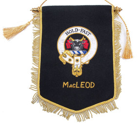 Embroidered MacLeod Clan Banner (silver)
