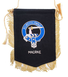 Embroidered MacRae Clan Banner