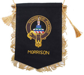 Embroidered Morrison Clan Banner
