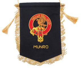 Embroidered Munro Clan Banner