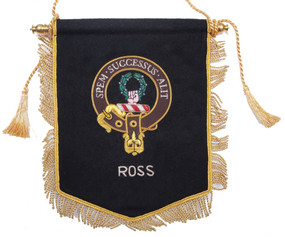 Embroidered Ross Clan Banner