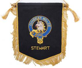 Embroidered Stewart of Appin Clan Banner