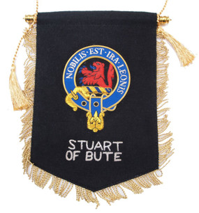 Embroidered Stuart of Bute Clan Banner