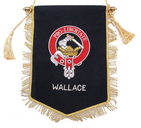 Embroidered Wallace Clan Banner