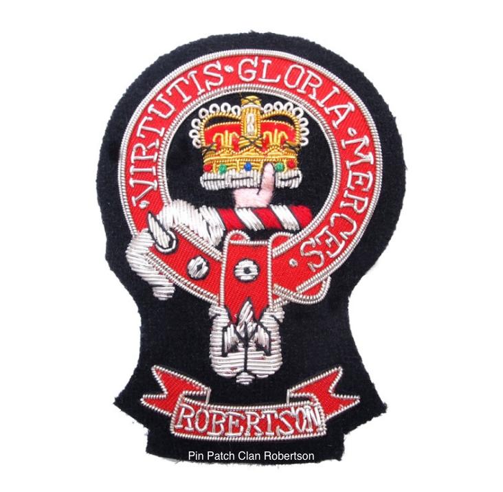 4997a05575bb9 Pin Patch Clan Robertson - Scottish Lion
