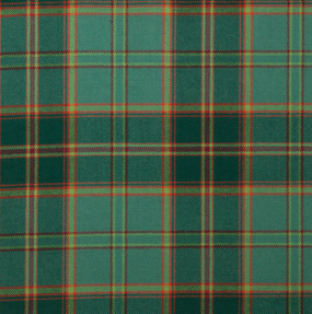 All Ireland Green Lightweight Tartan Fabric