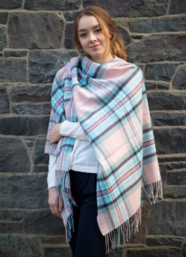 Diana, Princess of Wales Memorial ROSE Tartan Lambswool Serape