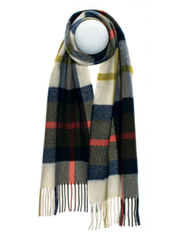 DAVIDSON OF TULLOCH OLIVE LUXURY OVERSIZED LAMBSWOOL SCARF