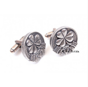 Cufflinks Irish Shamrock