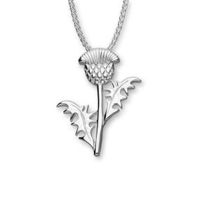 Thistle Silver Pendant P537