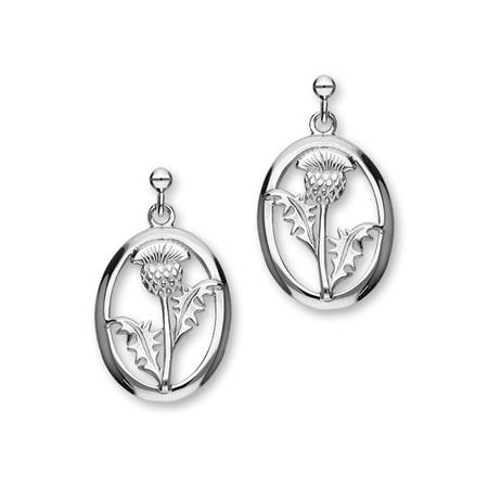 Thistle Silver Earrings E975