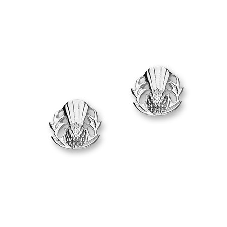 Thistle Silver Earring Studs E1221