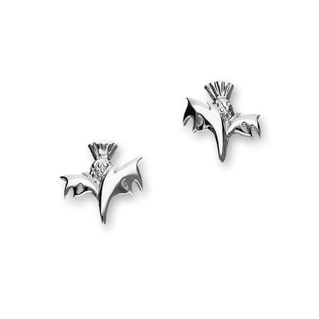 Contemporary Thistle Silver Earrings E1233