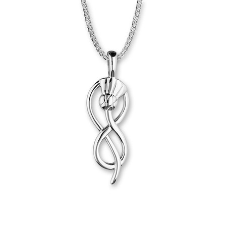Thistle Silver Pendant P906