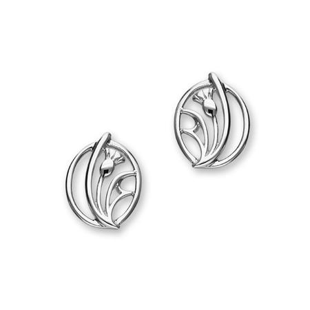Thistle Silver Earrings E1520