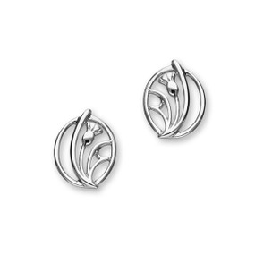Thistle Silver Earrings E1520