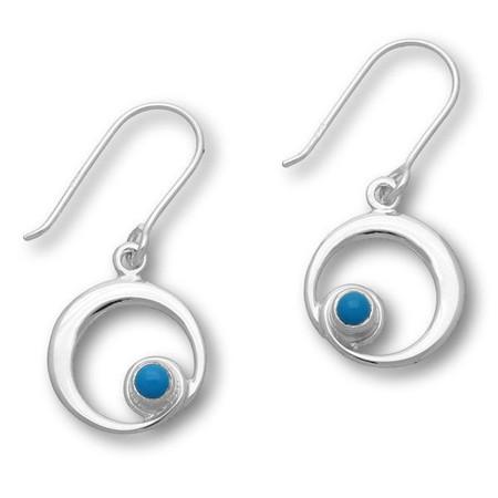 December Birthstone Silver Earrings SE376 Turquoise