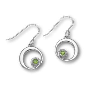 August Birthstone Silver Earrings CE361 Peridot