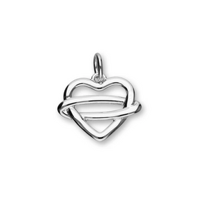 Celtic Heart Silver Charm