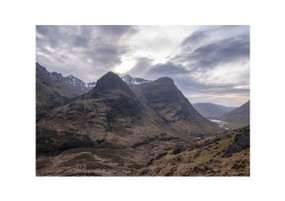 "The Three Sisters of Glencoe - Mounted Print (8.3"" x 11.7"")"